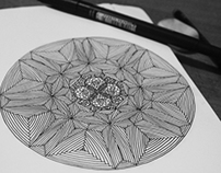 Inspirational Mandala - ''Life is a line'' Sketchbook