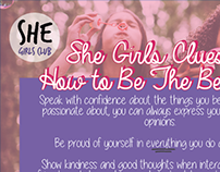 She Girls Club NMP & Live Brief 2015 (Uni project)