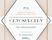 Criosurgery Conference First announcement