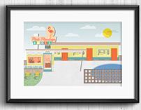1950s Motel Illustration