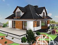 Exterior design - projekt elewacji i ogrodu MD