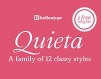 Quieta Free Font - 12 styles family