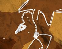 Fossils poster design
