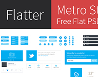 Freebie: Metro Style Free Flat User Interface Kit (PSD)