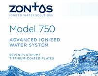 Zontos Alkali Water Ionizer POS box and user manual