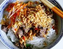 cách làm Bún Bò Nam Bộ– Vietnamese Beef Noodle Salad