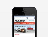 Lenovo Mobile Commerce Website