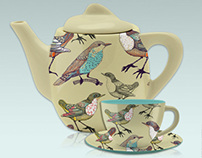 BIRDY BUFFET© - Tableware - Servies - Bone China