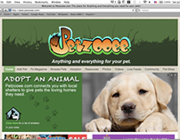 Pet Social Media Website Design