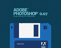 Adobe Software Install Floppy Disk Concept