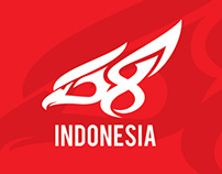 Unofficial Logo 68th Independence Day of Indonesia