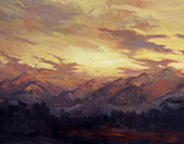 "Wasatch in September - 24"" x 72"""