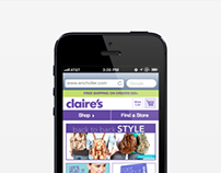 Claires Mobile Commerce Website