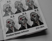 Presidential Zombie Transformation, Stamp Book