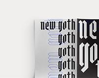 New goth — Specimen Typo