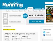 Rediseño de la web Planeta Running