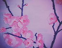 Drawing - wild cherry blossoms