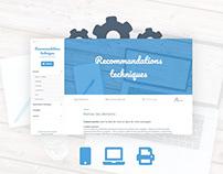 Site support publicité