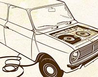 Audiotape car