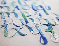 Embroidered alphabet