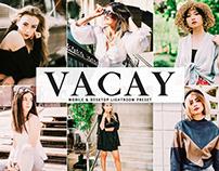 Free Vacay Mobile & Desktop Lightroom Preset