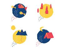 Outdoor Illustrations - For Backyard Montana Website