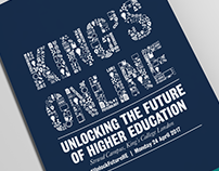 King's Online conference brochure