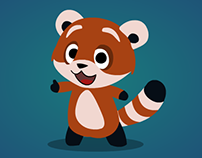 Red panda Mascot