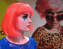 Art meets fashion - collage tribute installation