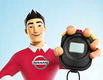 mascote NISSAN 3D