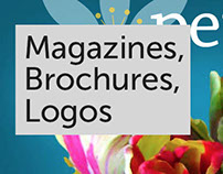 Magazines, Brochures, Logos
