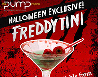 Pump Room Freddytini Halloween Collaterals