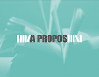 À PROPOS Publisher - Identity + WWW
