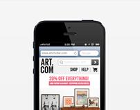 Art.com Mobile Commerce Webstie