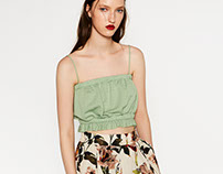 ZARA Woman - floral skirt & shirt