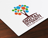Digital Diversity Logo & Business Card