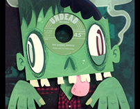 Vinyl Zombie 3D paper sculpture in a box