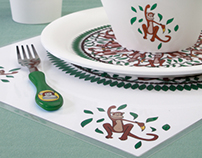 Monkey Dishware & Party Set