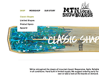 MTN Local Snowboards Website