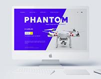 Webdesign for Drone Camera - PHANTOM