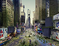 New York Times Square - Too Big To Fail