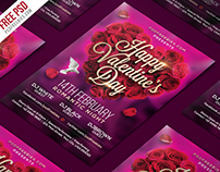 Free PSD : Valentines Day Flyer PSD Template