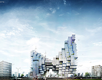 Mixed use, Ahmedabad - Quick Concept Renders for sP+a