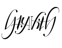 Tattoo design - Gravity Ambigram tattoo for client
