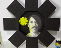 RHCP - desenho e moldura (Anthony Kiedis)