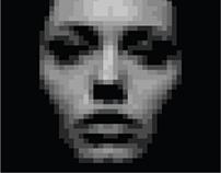3D pixel portrait