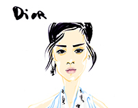 DIOR/ HAUTE COUTURE SS'16/ FASHION SKETCHES