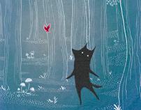 "Children's book illustration ""The little wolf"""