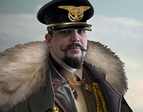 Général Dieselpunk - Autoportrait - carte de vœux 2020