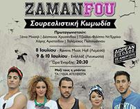 """""""zaman fou"""" poster"""